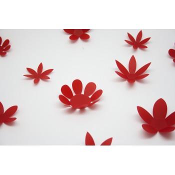 3D Piros virág csomag