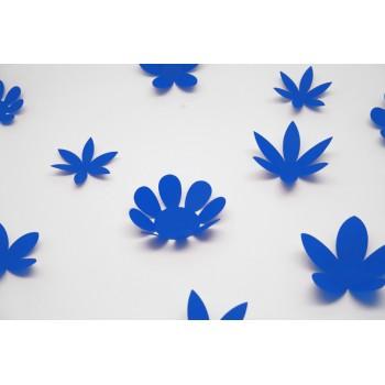 3D Kék virágok csomag