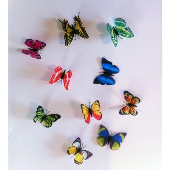 3D Színes mágneses pillangó csomag