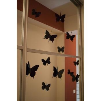 3D Fekete pillangó csomag