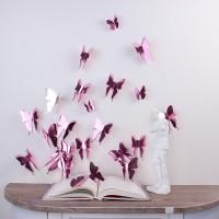 3D Rosé tükör pillangó csomag