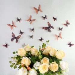 3D Élethű pillangó csomag - Barna
