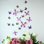 3D Élethű pillangó csomag - Lila