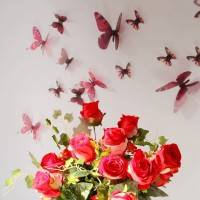 3D Élethű pillangó csomag - Piros
