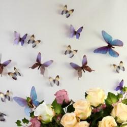 3D Élethű pillangó csomag - Kék