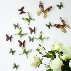 3D Élethű pillangó csomag - Zöld