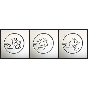 Uzávěr nádrže - Hladový kocour (balení)