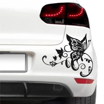 Autós matrica - Művészi pillangó