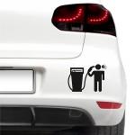 Autós matrica - Drága üzemanyag
