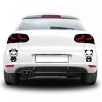 Autós matrica - Dühös pandák