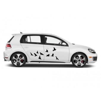 Autós matrica - Röpködő madarak (csomag)