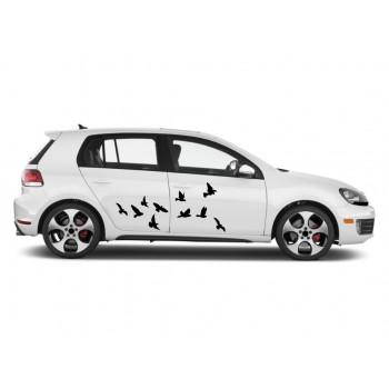 Auto nálepka - Létající ptáci
