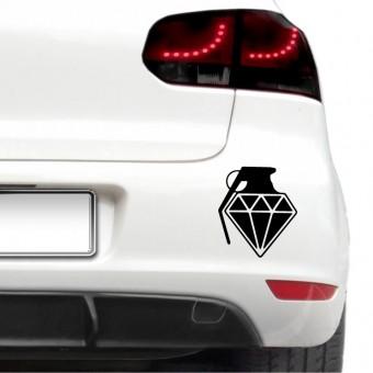 Autós matrica - Gyémánt gránát