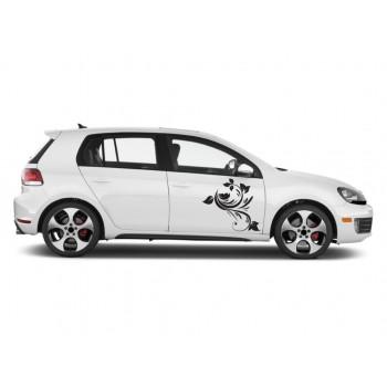 Auto nálepka - Flower whip