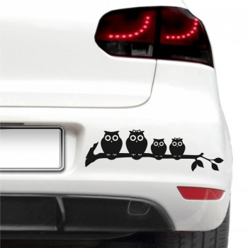 Auto nálepka - Rodina sov