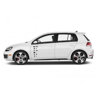 Autós matrica - Fekete lista