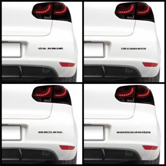 Autós matrica - Beszólások (csomag)