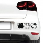 Autós matrica - Integető cicák