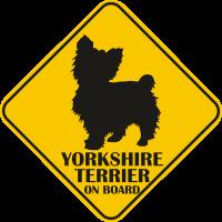 Autós matrica - Yorkshire terrier