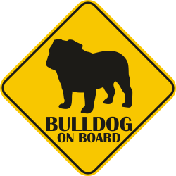 Autós matrica - Bulldog matrica