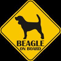 Autós matrica - Beagle