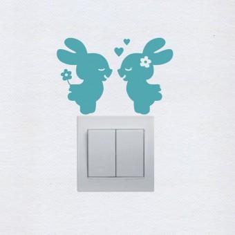 Szerelmes nyuszik - kapcsoló matrica csomag