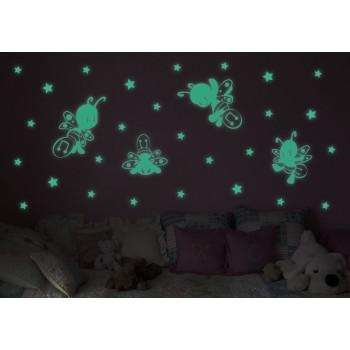 Fosforeskující nálepka svítící ve tmě - Včeličky