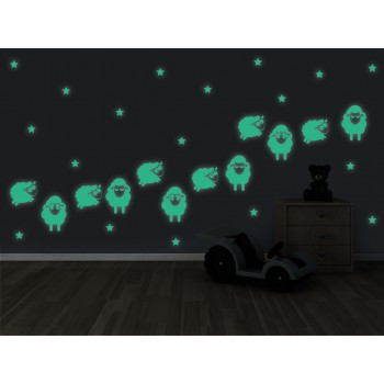 Fosforeskující nálepka svítící ve tmě - Beránci