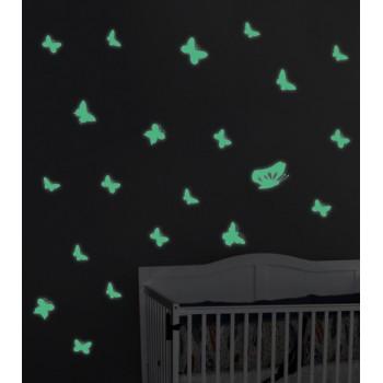 Fosforeskující nálepka svítící ve tmě - Motýli