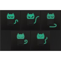 Konnektor matrica csomag - foszforeszkáló cicák
