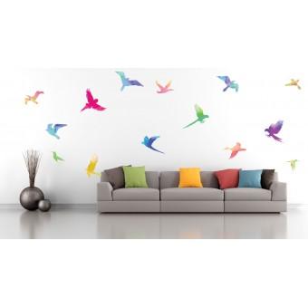 Color-birds - Színes matrica csomag