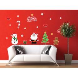 Hóember és a Mikulás -  Karácsonyi matrica csomag