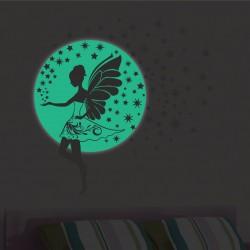 Foszforeszkáló matrica - Éjszakai tündér