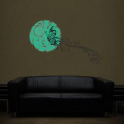Foszforeszkáló matrica - Éjszakai pillangó