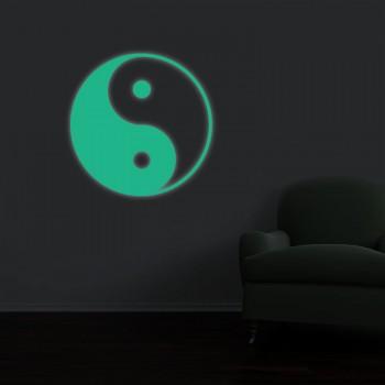 Fosforeskující nálepka svítící ve tmě - Yin Yang