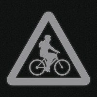 Fényvisszaverő matrica - Biciklis