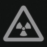 Fényvisszaverő matrica - Radioaktív