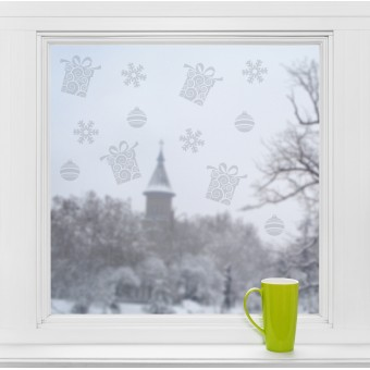 Karácsonyi motívumok - Üvegdekor
