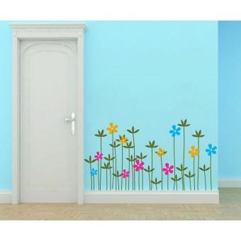 Réti virágok -  Színes matrica csomag
