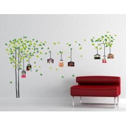 Zöld lombos fa  – Színes matrica csomag