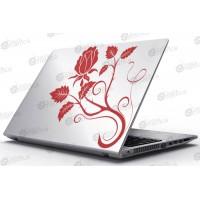 Laptop Matrica - Rózsás motívum