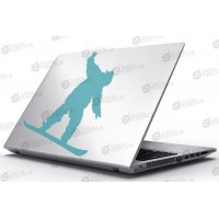 Laptop Matrica - Snowboard