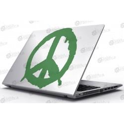 Laptop Matrica - A béke jele - Peace!