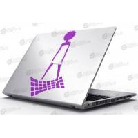 Laptop Matrica - Táncosnő
