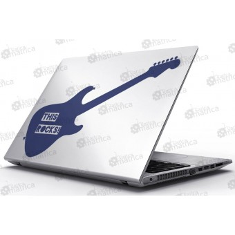 Laptop Matrica - Rock gitár