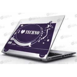 Laptop Matrica - I Love Techno