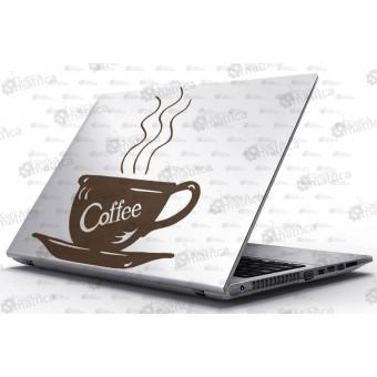 Laptop Matrica - Forró kávé