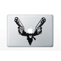 Macbook matrica - Fegyveres hős