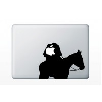 Macbook matrica - Névtelen lovas