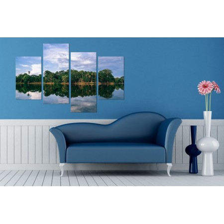 Többrészes vászonkép - A tó tükrén